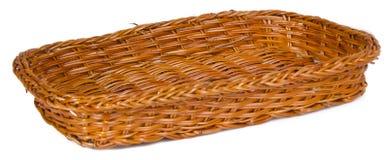 bataan 在背景的空的木篮子 免版税库存照片