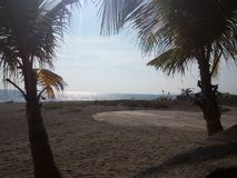 Bataan strand I - between arkivfoton