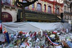 Bataclan剧院恐怖袭击 免版税库存图片