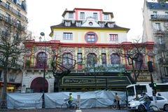 Bataclan που χτίζει 5 ημέρες μετά από τις δολοφονίες 2015 Στοκ Εικόνες