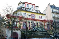 Bataclan Café som bygger Paris Arkivbilder