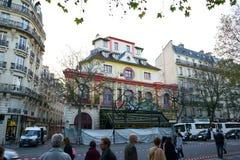 Bataclan Café som bygger Paris Royaltyfria Foton