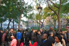 Bataclan efter terroristen Shootings 2015 Royaltyfria Bilder