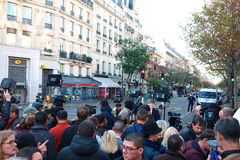 Bataclan, two days after Shootings Royalty Free Stock Image