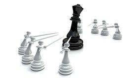 Bataille 1 d'échecs Photos libres de droits