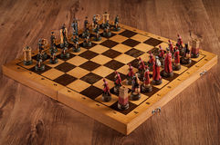 Bataille Catolic d'échecs et Slave Images libres de droits