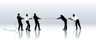 Bataille concurrentielle Photo libre de droits