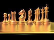 Bataille d'échecs Photographie stock libre de droits