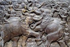 Bataille d'éléphant Photos libres de droits
