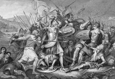 Bataille d'Agincourt illustration stock