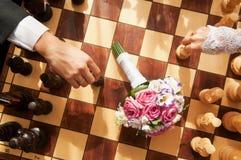 Bataille d'échecs Photo libre de droits