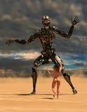 Bataille d'imagination de la science-fiction, guerre image stock