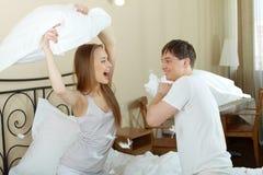 Bataille d'oreiller Photos libres de droits