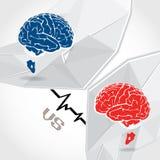 Bataille de cerveau images stock
