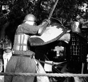 Bataille de chevalier à Jérusalem Photographie stock