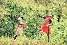 Bataille de chevaliers Photos libres de droits