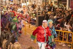 Bataille de fleur à Malaga Photo stock