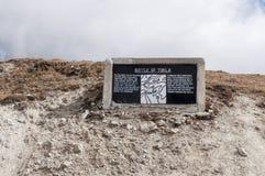 Bataille de Historial d'arête de Tukla, Himalaya photos stock
