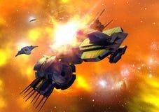 Bataille de l'espace Image libre de droits