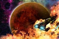 Bataille de l'espace Image stock