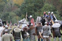 Bataille de reconstitution de Hastings photographie stock