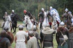 Bataille de reconstitution de Hastings photo libre de droits