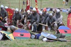 Bataille de reconstitution de Hastings images stock