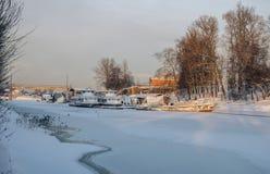 Bataille de site historique de Neva July 15, 1240 Images stock