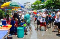 Bataille de Songkran photos libres de droits