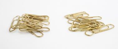 Bataille de trombone d'or Photographie stock libre de droits