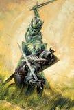 Bataille des chevaliers Image libre de droits