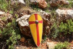 Bataille des chevaliers et de l'équipement chevaleresque Photo stock