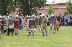 Bataille des Vikings Photos stock