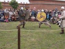 Bataille des Vikings Reconstitution et festival historiques Photographie stock libre de droits
