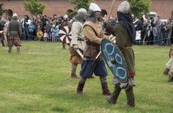 Bataille des Vikings Reconstitution et festival historiques Photographie stock