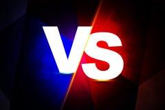 Bataille et insigne de logo CONTRE Photo libre de droits