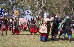 Bataille médiévale de festival de Caboolture Image stock