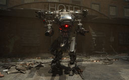Bataille Mech Image stock