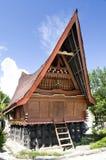 batak房子传统海岛的samosir 免版税库存照片