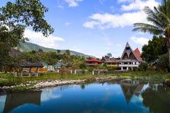 Batak样式议院。 免版税库存照片
