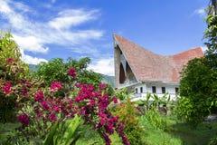 Batak样式议院。 免版税库存图片
