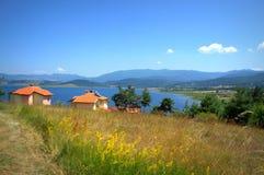 Batak湖夏令时视图 免版税库存照片