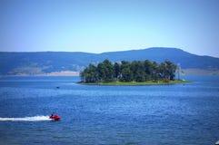 Batak湖视图 免版税图库摄影