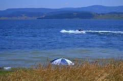 Batak湖视图 免版税库存照片
