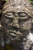 Batak carving stone statue in Tuk-tuk village, Toba lake Stock Photos