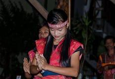Batak dancers in Sumatra, Indonesia Stock Photos
