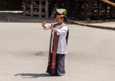 Batak dans i Sumatra, Indonesien Arkivfoto