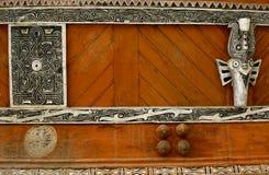 Batak house ornaments in Sumatra Royalty Free Stock Photo