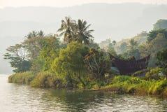 Batak house on the Samosir island near lake Toba Stock Photo