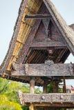 Batak house on the Samosir island near lake Toba Royalty Free Stock Photo